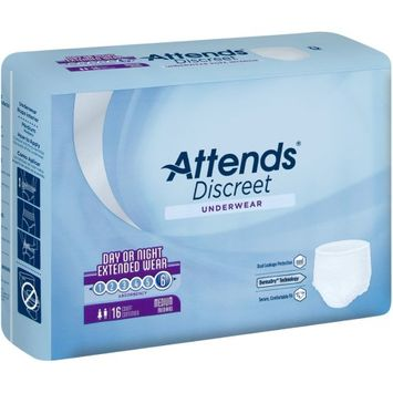 Attends Overnight Protective Underwear Medium, 34 - 44, Case of 64 - 8 Pack