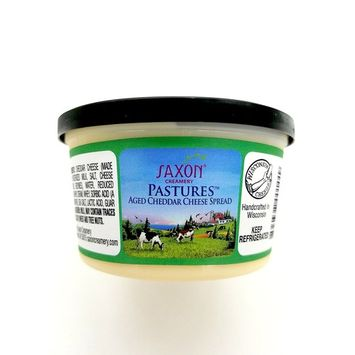 Saxon Creamery Pastures Aged Cheddar Cold Pack Cheese Spread 8oz Cup