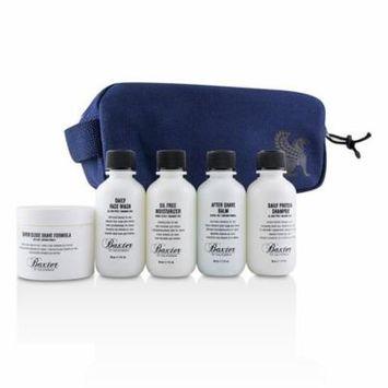 Baxter Of California Travel Starter Kit: Face Wash + Shave Formula + Moisturizer + Shave Balm + Shampoo + Bag 5pcs + 1 Bag Men's Skincare