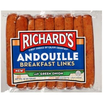 Richard's Andouille Breakfast Links with Green Onion, 10 Oz.