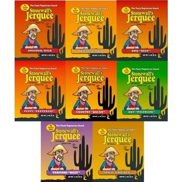 Stonewall's Jerquee Variety Pack - 1.5 Ounce Packets - Pack of 8 [Standard Packaging]