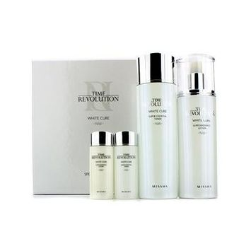 Missha Time Revolution White Cure Special Set I: Essential Toner 150Ml & 30Ml + Radiance Lotion 130Ml & 30Ml 4Pcs