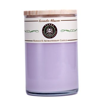 Lavender Blossom MASSAGE & AROMATHERAPY SOY CANDLE 12 OZ TUMBLER. A CALMING & BALANCING BLEND WITH AMETHYST GEMSTONE. BURNS APPROX. 30+ HOURS for UNISEX