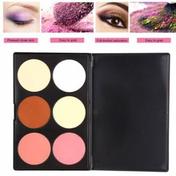 6 Colors Professional Makeup Pressed Powder Cosmetic Powder Blush Blusher WSY