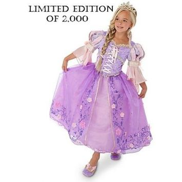 IBERIA FOODS CORP. Limited Edition Tangled Deluxe Rapunzel Costume for Girls (size: 10)