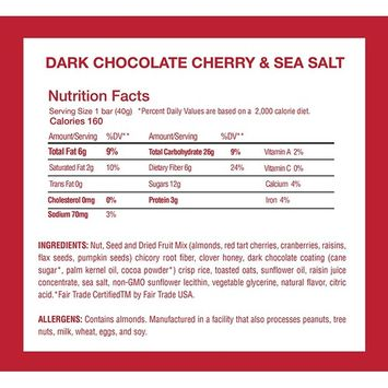 Gluten Free Healthy Granola Snack Bar, Dark Chocolate Cherry, 12 Bars, 1.4 oz; Breakfast Bars by This Saves Lives [Dark Chcocolate Cherry]