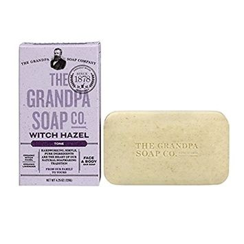 Grandpa's Witch Hazel Bar Soap Soft and Gentle, 4.25oz (Pack of 2)