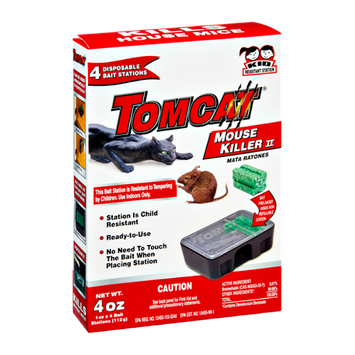 Tomcat Mouse Killer II Disposable Bait Stations - 4 CT