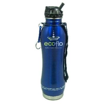 Ecoflo Stainless Steel Water Filter Blue Bottle Ecoflo 27 oz Bottle