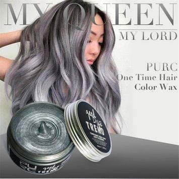 Creazy NEW DIY Hair Clay Wax Mud Dye Cream Grandma Hair Ash Dye Temporary
