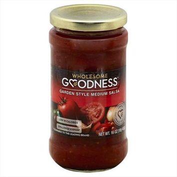 Wholesome Goodness 16 oz. Medium Garden Style Salsa - Case Of 6