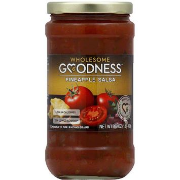 Wholesome Goodness Pineapple Salsa, 16 oz, (Pack of 6)