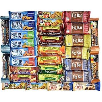 EVA Snack Variety Pack, Healthy Bars Sampler & Care Package in a Box (33 count)