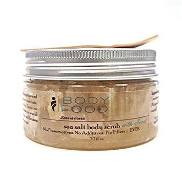 Body Food Sea Salt Body Scrub with Honey and Almond, 3.7 oz.