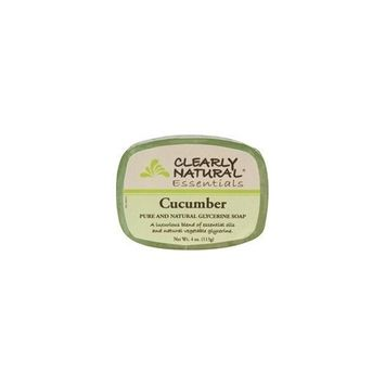 Clearly Natural Soap Glycerine Cucumber 4 Oz Pack of 12