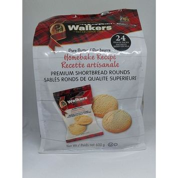 Walkers Premium Shortbread Rounds 24 Snack Packs individually wrapped