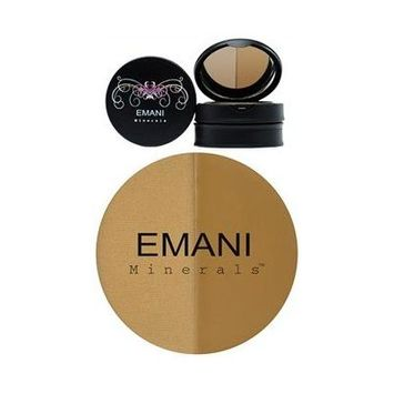 Emani Duo Mineral Concealer & Setting Powder - 622 Medium-Olive