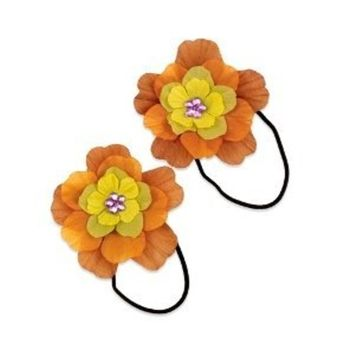 Hair Bands with Flower (6 count)