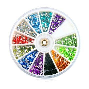 Nail Art Rhinestones Kit Manicure Wheel
