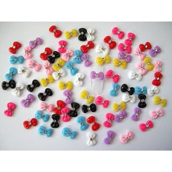 Nail Art 3d 80 Mix Bow /Rhinestone for Nails, Cellphones