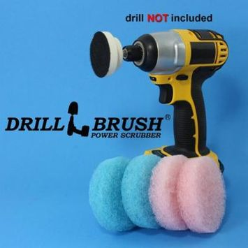 Power Scumbusting Scrubbing Pads Bathroom Surfaces Shower Tubs Tile by Drillbrush