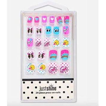 Justice Girls Press-on Nails Emoji Sticker