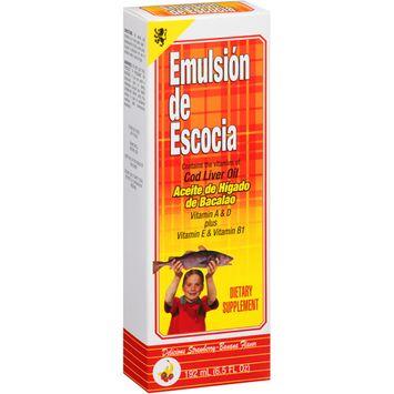 Menper Emulsion De Escocia Strawberry-Banana Flavor Cod Liver Oil, 6.5 fl oz
