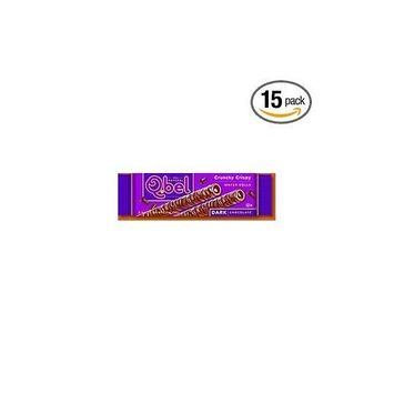 Q.Bel Wafer Rolls, Dark Chocolate Crunch Crispy, 0.9-Ounce (Pack of 15)