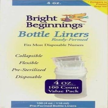 Bright Beginnings Pre-Formed Bottle Liners (100 Count, 4 oz.)