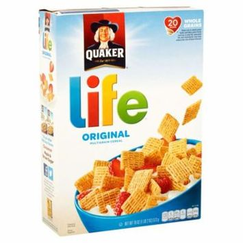(2 Pack) Quaker Life Multigrain Cereal, Original, 18 oz Box