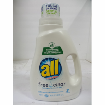 Purity All Liquid Laundry Detergent, Free Clear for Sensitive Skin, 46.5 oz-Pack of 2