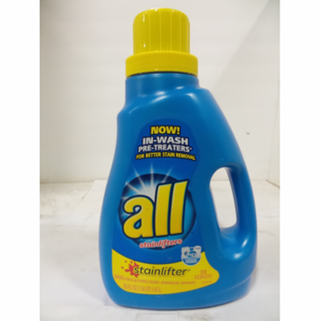 All Liquid Laundry Detergent, Stainlifter, 50 oz-Pack of 3