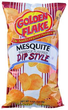 golden flake® mesquite barbeque flavored dip style potato chips
