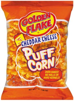 Golden Flake Cheddar Cheese Flavored Puff Corn