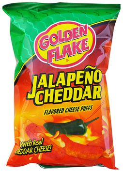 Golden Flake® Jalapeno Cheddar Flavored Cheese Puffs Bag