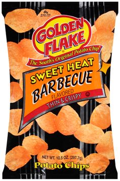 golden flake® sweet heat barbecue potato chips