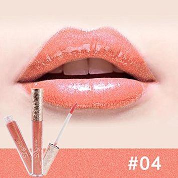 Binmer(TM) Waterproof Liquid Lipstick Lipgloss Moisturizing Long Lasting Diamond Lip Gloss