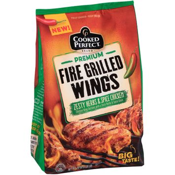 cooked perfect® premium fire grilled wings zesty herbs & spice