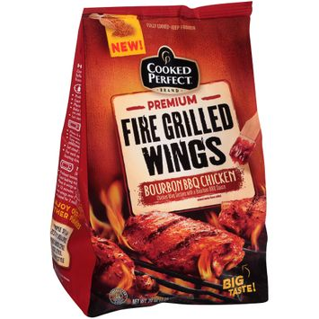 cooked perfect® premium fire grilled wings bourbon bbq
