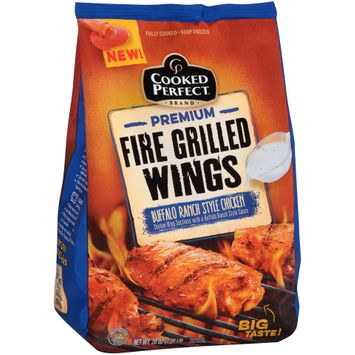cooked perfect® premium fire grilled wings buffalo ranch style