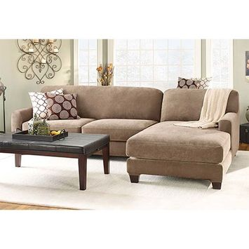 Brookstone Stretch Pique Sectional with Side Chaise Cover