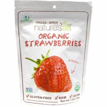 Natierra Nature's All , Organic Strawberries, Freeze-Dried, 1.2 oz (pack of 1)