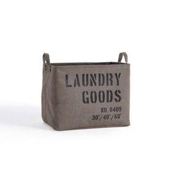 Danya B. Army Canvas Laundry Basket Sadle Brown