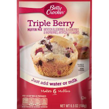 Betty Crocker Triple Berry Muffin Mix, 6.5 oz