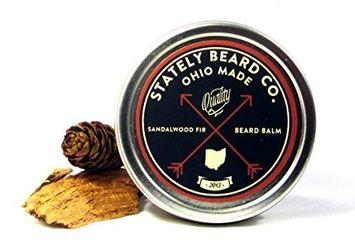 Stately Beard Co. - Sandalwood Fir Beard Balm - All Natural and Organic, 2oz