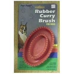 Four Paws Rubber Curry Brush For Dogs