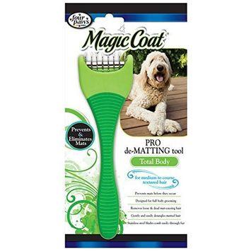 Four Paws Magic Coat Dog Grooming De Matting Tool, Medium to Coarse Coat