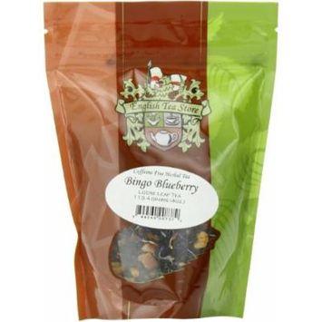 English Tea Store Loose Leaf, Bingo Blueberry Herbal Tea Pouches, 4 Ounce