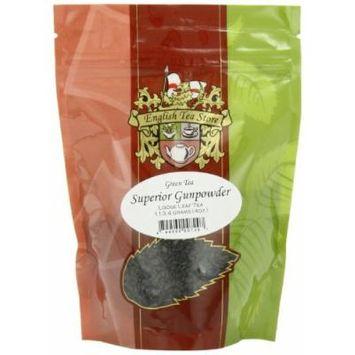 English Tea Store Loose Leaf, Superior Gunpowder Green Tea Pouches, 4 Ounce