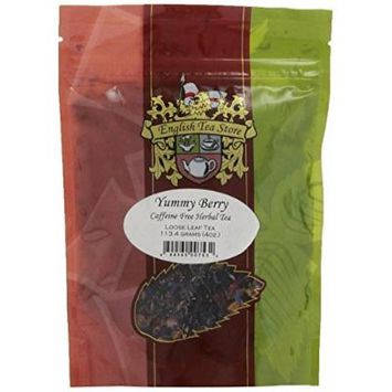 English Tea Store Loose Leaf Pouches, Yummy Berry Caffeine Free Herbal Kids Tea, 4 Ounce